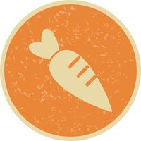 Ícone de cenoura de vetor
