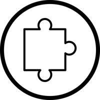 Vektor-Puzzle-Stück-Symbol