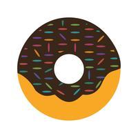 Icône de Donut de vecteur
