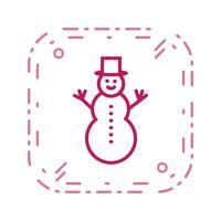 snögubbe vektor ikon