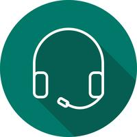 Ícone de fones de ouvido de vetor