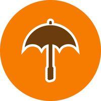 Icône de vecteur de parapluie