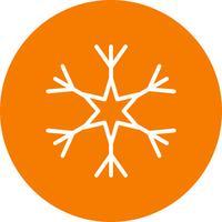 Ícone de vetor de floco de neve