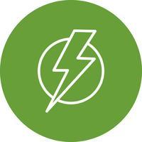Ícone de vetor de choque elétrico