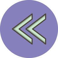 Vorheriges Vektor-Symbol