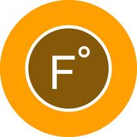 Fahrenheit ícone Vector