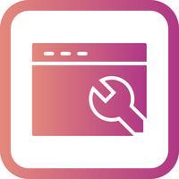 Icona delle impostazioni del browser vettoriale