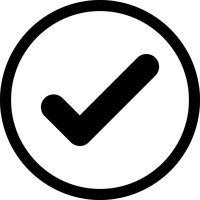 marque el icono de vector