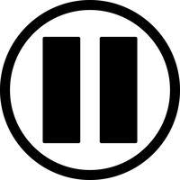 Vector pictogram pauzeren