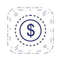 Vector icono de dólares