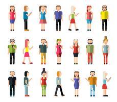 Avatares de pixel de pessoas