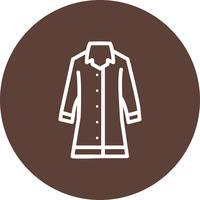 Ícone de vetor de casaco de chuva