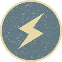 Lightning Button Vector Icon