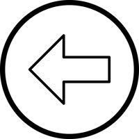 Icona di vettore a sinistra