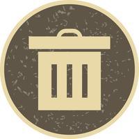 Ícone de lixo de vetor