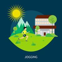 Joggen Conceptuele afbeelding ontwerp