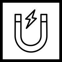 Icona del magnete vettoriale