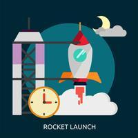 Rocket Launch Conceptual ilustración Diseño