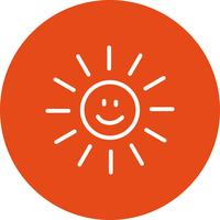 Sun sonriente Vector Icon