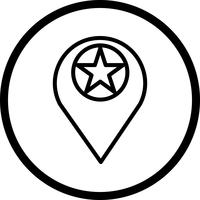 Vector Starred Location Icon