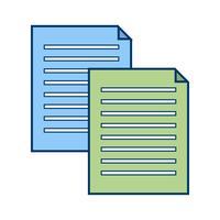 Ícone de arquivos vetoriais