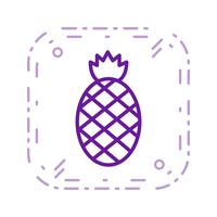 Vector ananas pictogram