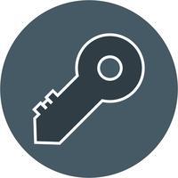 Ícone de chave de vetor