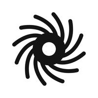 Black Hole Vector Icon
