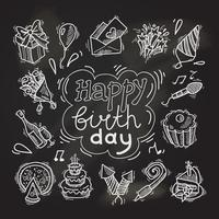Birthday sketch chalkboard