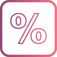 percentage vector pictogram