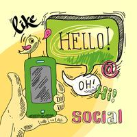 Social da bolha do discurso