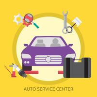 Auto Service Center Illustration conceptuelle Design