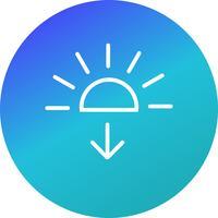 Zonsondergang Vector Icon