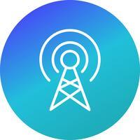 Broadcast Vector Icon