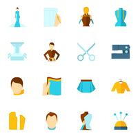 Kleding ontwerper pictogram plat