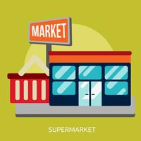 Supermarkt konzeptionelle Illustration Design