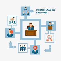 Concepto ejecutivo plano