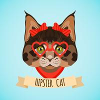 Portrait de chat hipster