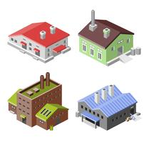 Industrial buildings isometric