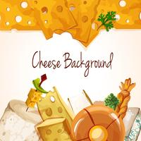 Cheese assortment background