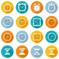 Clock icon flat set