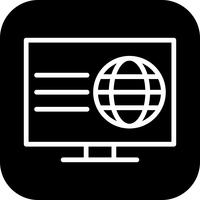 Vector icono de página web
