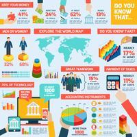 Boekhoudkundige infographics set