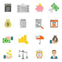 Icona fiscale piatta