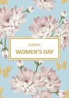Día de la mujer feliz Shabby chic crisantemos
