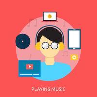 Musik spielen Konzeptionelle Illustration Design