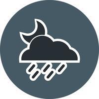 natt regn vektor ikon
