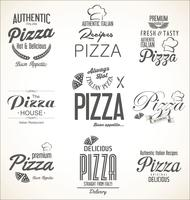 Design retrô de fundo de pizza