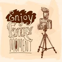 Camera statief schets
