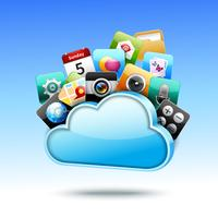 Cloud 3d storage vector